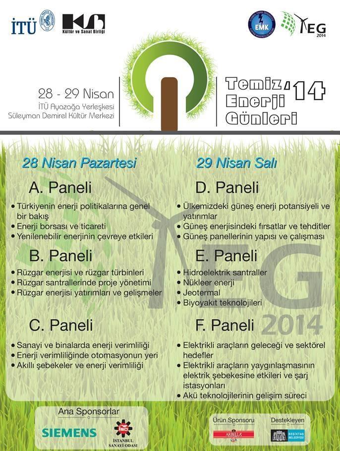 TEG 2014 Etkinlik Programı Afişi