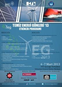 Temiz Enerji Günleri 2013 program