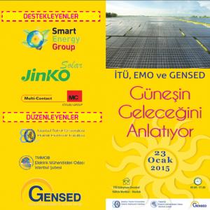 İTÜ, EMO ve GENSED GÜNEŞİN GELECEĞİNİ ANLATIYOR @ İTÜ SDKM | Maslak | İstanbul İli | Türkiye